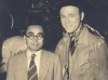 Toshiro Morishige in Hollywood, California with a movie star. [Courtesy of Morishige Family]