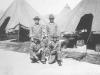 """Joe Nakahara and friends in """"tent city"""" at Camp McCoy, Wisconsin, 1942. [Courtesy of Velma Nakahara]"""