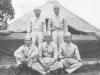 Joe Nakahara and friends at Camp McCoy, Wisconsin. [Courtesy of Velma Nakahara]