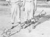 Lefty Mizusawa and Joe Takata in their Aloha uniforms at Camp McCoy, Wisconsin, 1942. [Courtesy of Velma Nakahara]