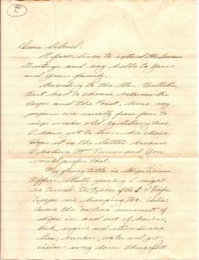 Turner letter - Andy Fraser, 11/24/1944 (page 1)