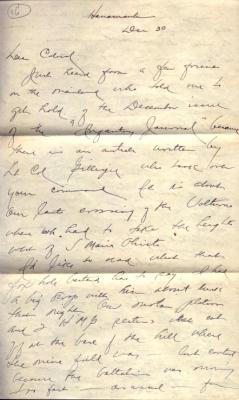 Capt Jack Mizuha, 12/30/1944, page 1
