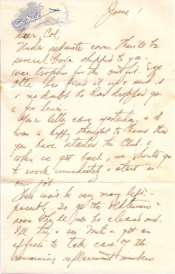 Capt K Kometani, 06/01/1945, page 1