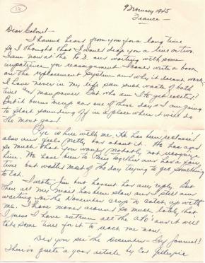 Capt. R J Mac McKelvy, 02/09/1945, page 1