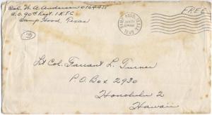 Col. W A Anderson, 01/30/1945