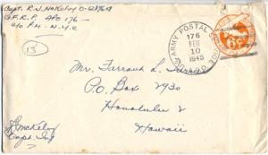 Capt. R J Mac McKelvy, February 9, 1945