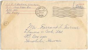 Pvt Edward K Nashiwa, November 14, 1944