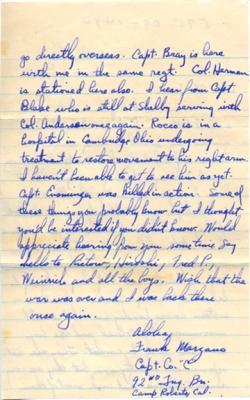 Frank Marzano, 11/11/1944, page 2