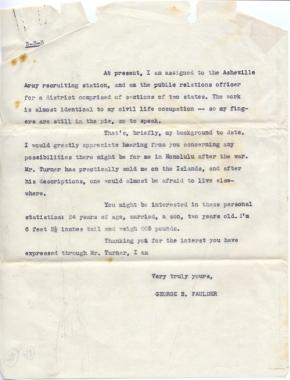 Turner letter, George (Bud) Faulder, 10/17/1944 (page 3)