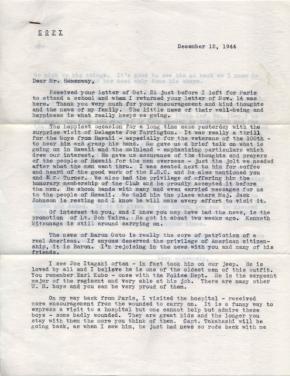 K Kometani, 12/12/1944, page 1