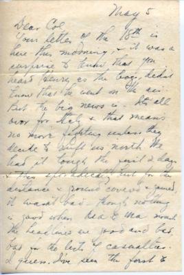 Kome, May 5, 1945 (page 1)