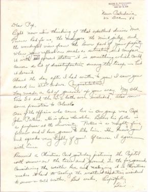 Lt. Col. Blair E Henderson, 12/22/1944