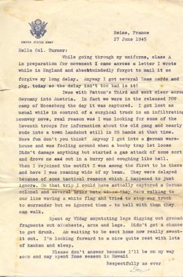 Major I.A. (Doc) Kawasaki, 06/27/1945