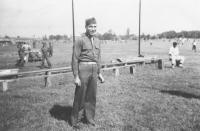 'Coach' Major Lovell, Camp McCoy, Wisconsin, September 1942 [Courtesy of Sandy Tomai Erlandson]