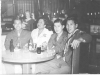 Yozo Yamamoto and friends take in a show at the Lexington Hotel while on furlough in Wisconsin, from l-r James Akamine; hula dancer; James Oki; Yozo Yamamoto [Courtesy of Sandy Tomai Erlandson]