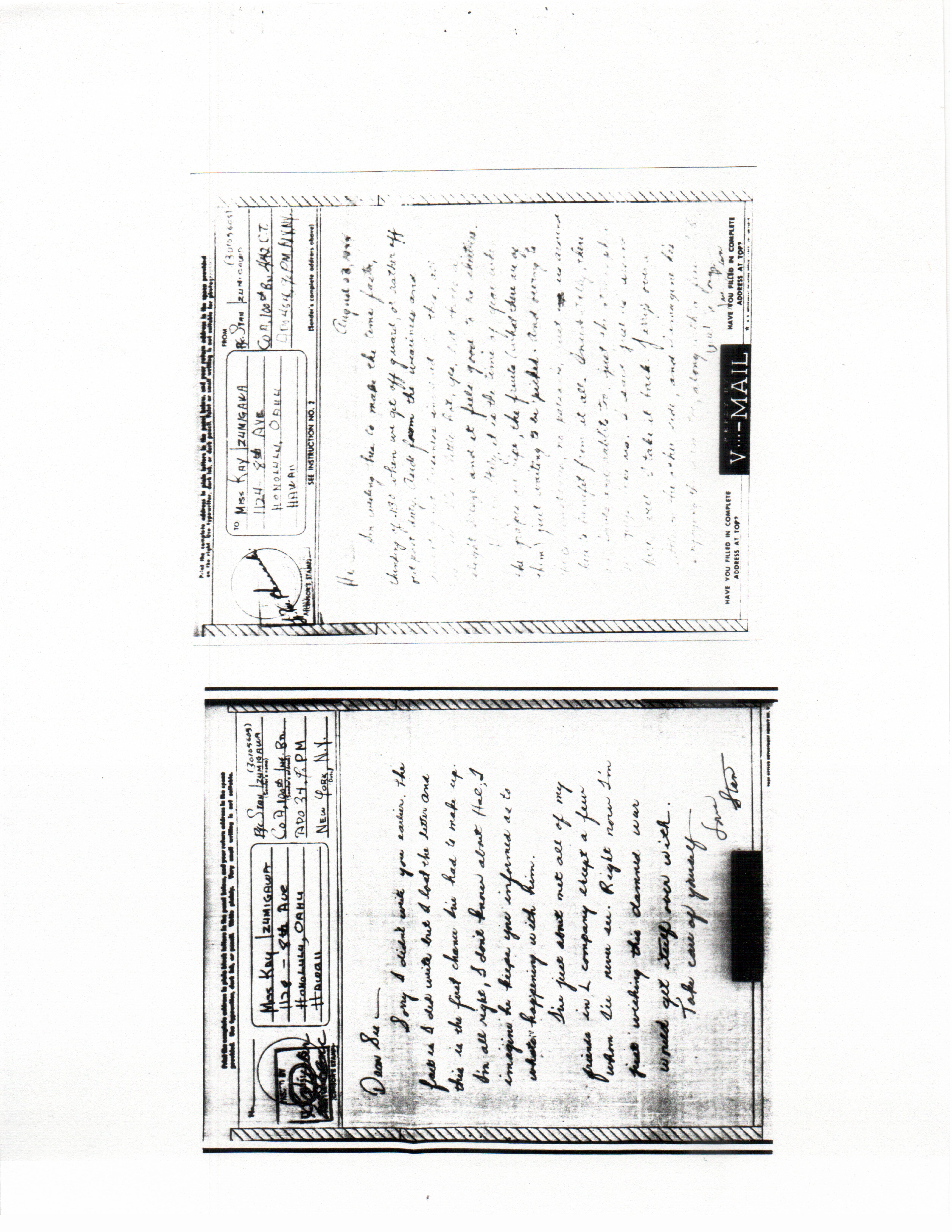 Stanley Izumigawa Letters 1944